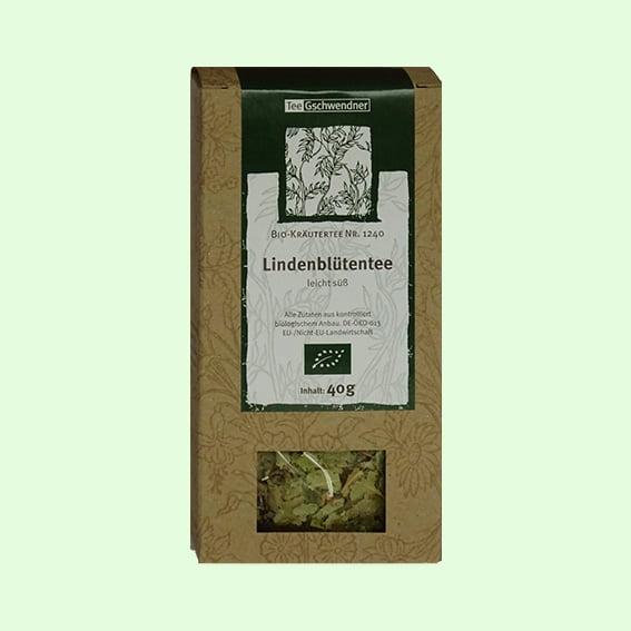 Teeverpackung Lindenblütentee Tee-Geschwendner