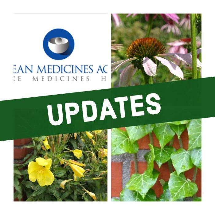 Die EMA/HMPC hat einige Aktualisierungen bestehender Monografie veröffentlicht.
