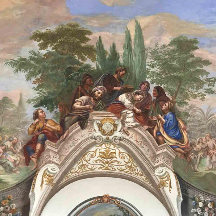 Fresko im Sommerrefektorium des Stiftes Göttweig.