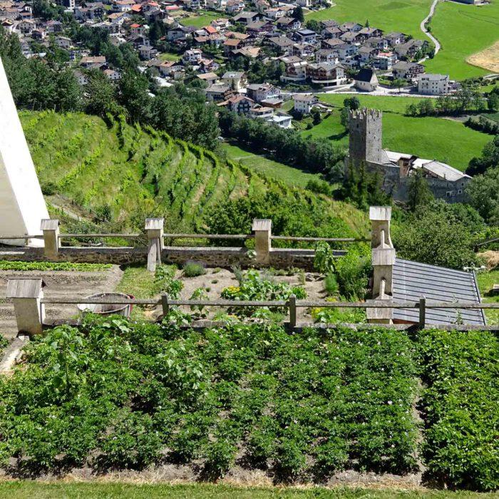 Die raren Flächen der terrassenförmigen Gärten werden als Nutzgärten genutzt.