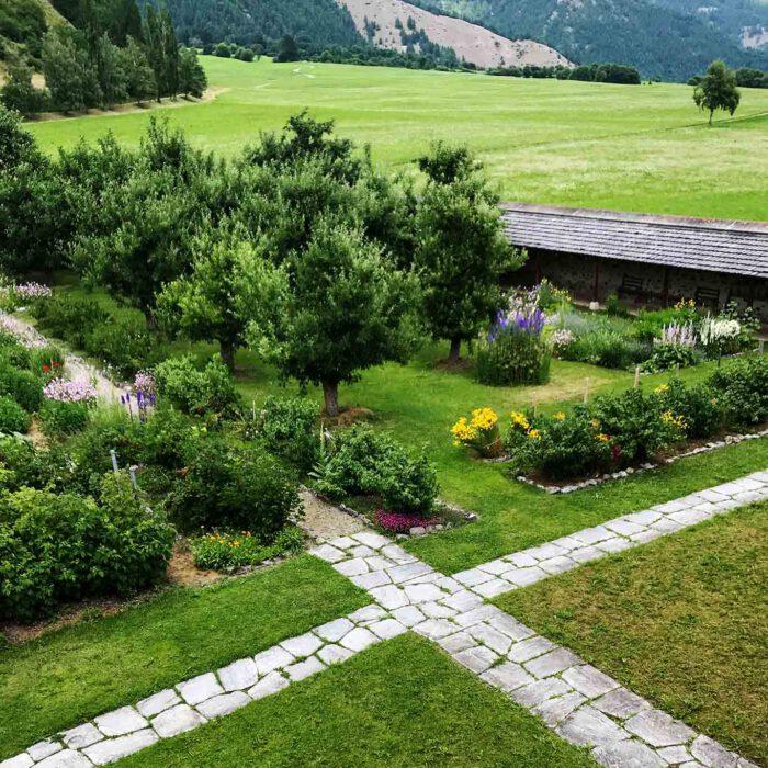 Den meisten Blicken verborgen bleibt die Aussicht auf den Klostergarten.