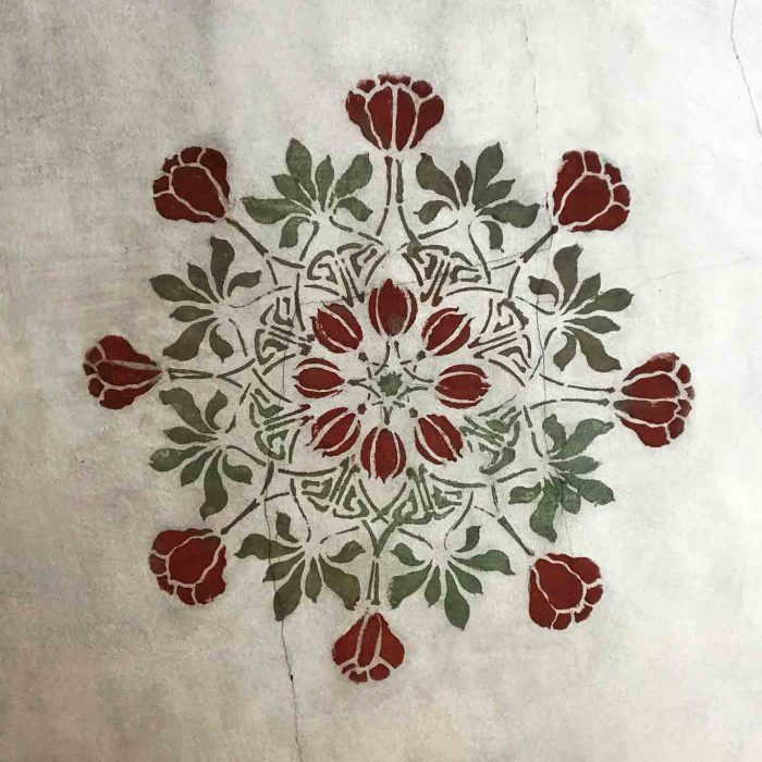 Die floralen Vorlieben der Nonnen drücken sich auch in den Bemalungen der Innenwände wieder.