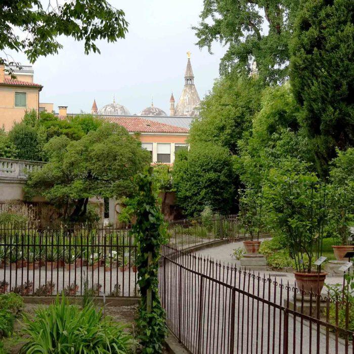 Im Hintergrund sind immer wieder die Basilika des Heiligen Antonius sichtbar.