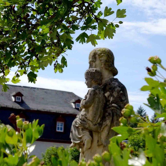 Der Weissdorn steht am Anfang der Geschichte des Klosters.