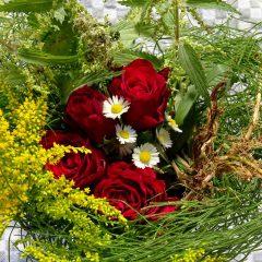 Schöne Haut lässt sich erzielen mit einer Kräutermischung aus Goldrute, Ackerschachtelhalm, Queckenwurzel, Brennnesseln, Gänseblümchen und Rosenblättern.