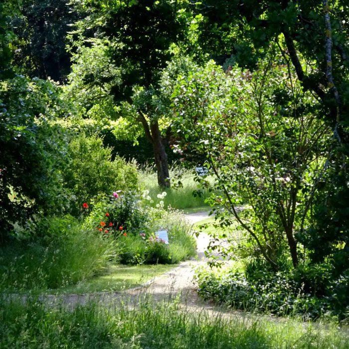 Bequeme Wege führen durch den Park