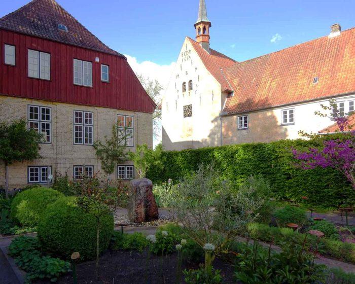 Abgeschieden vom Lärm der Welt blüht und gedeiht es im Bibelgarten des Schleswiger St. Johannisklosters.