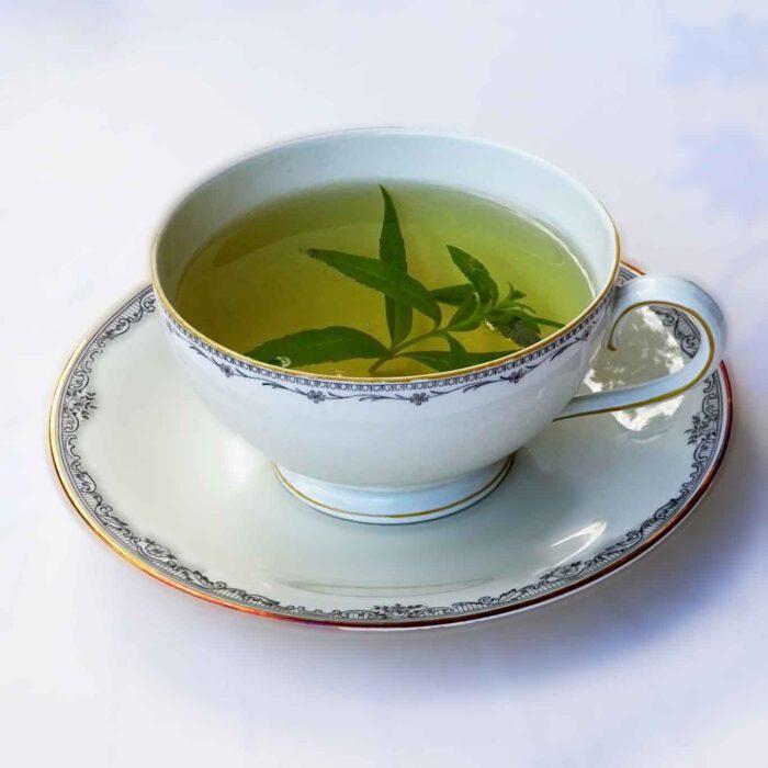 Ein wahrlich entspannender Genuss ist eine Tasse Tee mit Zitronenverbene.