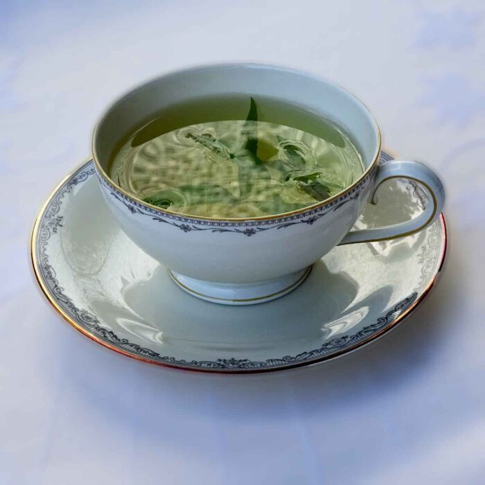 Eine Tasse heissen Zitronenverbenentees entspannt, unterstützt die Erholung und fördert so auf genüssliche Art das Wohlbefinden.