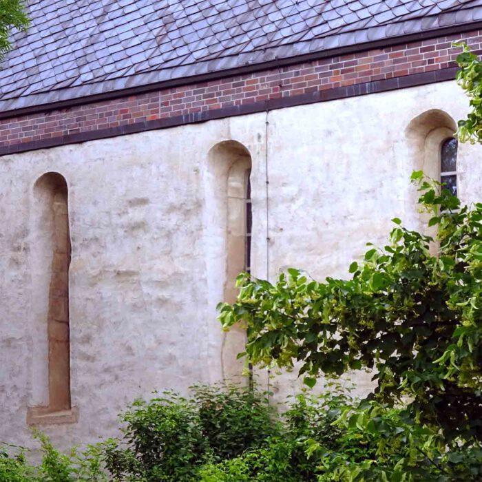 Wenig war vom ehemaligen Kloster Helfta übriggeblieben. Die Struktur der Klosterkirche überlebte die Jahrhunderte.